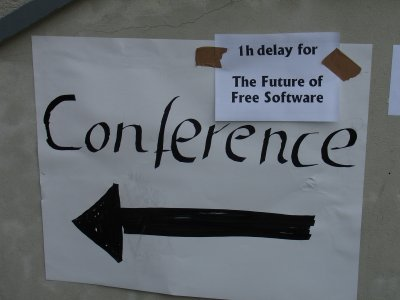 one hour delay for the future of free software